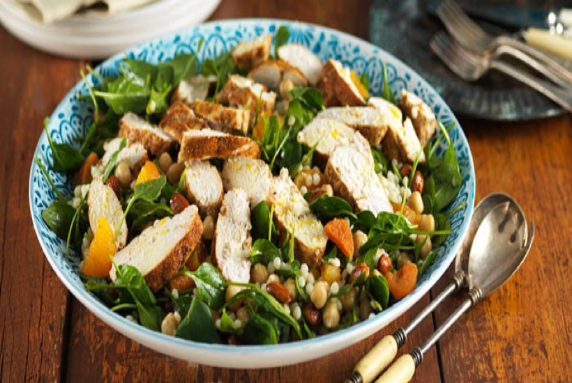 Chicken and Chickpea Salad with Rocket and Sprouts